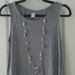 New York and Company Long Beaded Necklace
